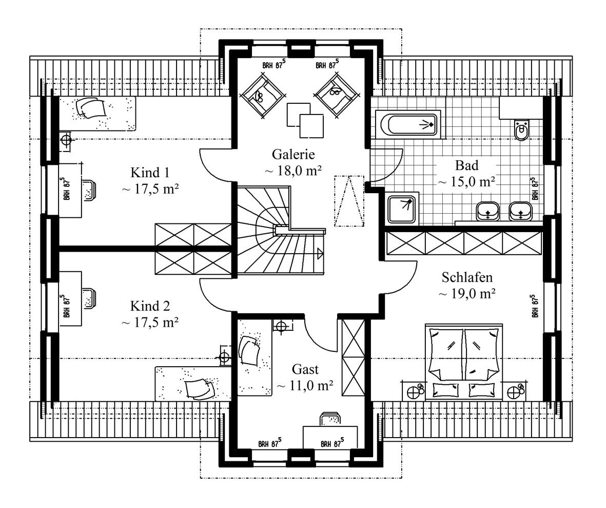 grundriss bungalow 4 zimmer offene k che k che unterbau led standregal granit arbeitsplatte. Black Bedroom Furniture Sets. Home Design Ideas
