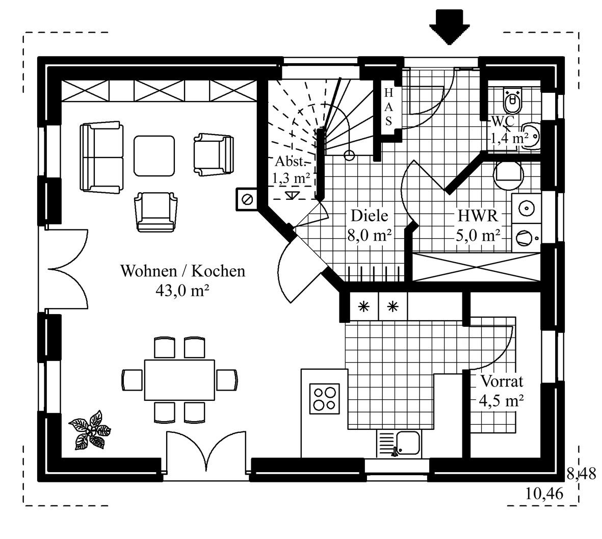 grundriss offene kche great kuche grundriss grundriss bungalow offene kuche grundriss bungalow. Black Bedroom Furniture Sets. Home Design Ideas